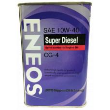 ENEOS DIESEL 10W40 CG-4 Масло моторное полусинт. (Корея) (4L)