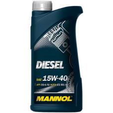Минеральное масло Mannol DIESEL 15W-40 1л