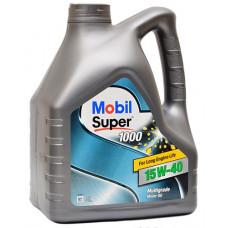 Минеральное масло Mobil Super 1000 X1 15W-40 4л