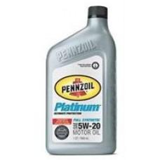 Моторное масло Pennzoil Platinum Full Synthetic Motor Oil 5W-20 0.946л