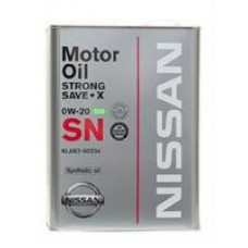 Моторное масло Nissan Strong Save-X 0W-20 4л