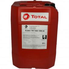 Минеральное масло Total RUBIA TIR 7400 15W-40 20л