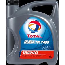 TOTAL RUBIA TIR 7400 15W40 E7 Масло моторное минер. (5L)