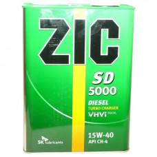 Минеральное масло ZIC SD 5000 15W-40 4л