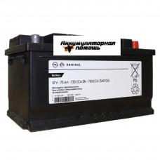GM ORIGINAL 6СТ- 75 (о.п.) низ 95527532