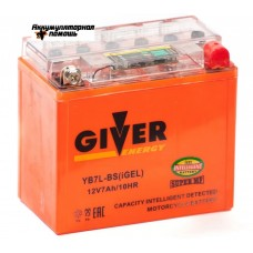 GIVER ENERGY 12V/7Ач (YB7-BS) iGEL