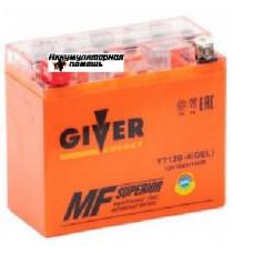 GIVER ENERGY 12V/10Ач (YT12B-4) GEL