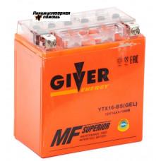 GIVER ENERGY 12V/14Ач (YTX16-BS) GEL
