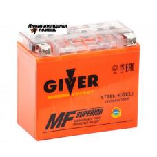 GIVER ENERGY 12V/20Ач (YT20L-4) GEL