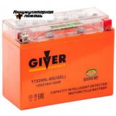 GIVER ENERGY 12V/21Ач (YTX24HL-BS) GEL