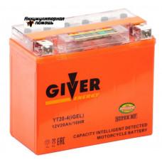 GIVER ENERGY 12V/20Ач (YT20-4) iGEL