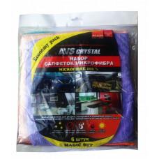 Набор салфеток экономичный для полировки и очистки AVS MF-6122 (6шт, 25х25см)