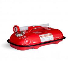 Канистра топливная металлическая горизонтальная 5 л (красная) AVS HJM-05