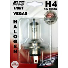 Лампа галогенная AVS Vegas в блистере H4.12V.60/55W (1 шт.)