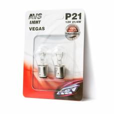 Лампа AVS Vegas в блистере 12V. P21/4W(BAZ15d) смещ.штифт- 2 шт.