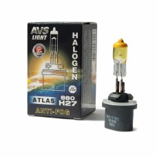 Галогенная лампа AVS ATLAS ANTI-FOG BOX желтый H27/880 12V.27W (коробка-1шт.)