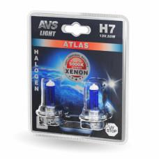 Лампа галогенная AVS ATLAS /5000К/ H7.12V.55W (блистер, 2 шт.)