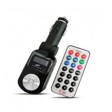 MP3 плеер + FM трансмиттер с дисплеем и пультом (черный) AVS F-525