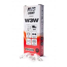 Лампа AVS Vegas 24V. W3W (W2,1x9,5d) BOX (10 шт.)