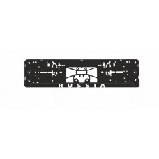 Рамка под номерной знак нижняя защёлка, шелкография