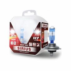 Лампа галогенная AVS SIRIUS NIGHT WAY H7.12V.55W Plastic box -2 шт.