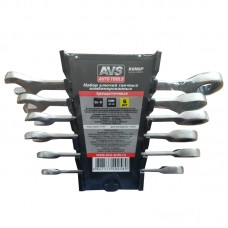 Набор ключей гаечных комбинированных трещоточных в пластике (8-17 мм) (6предметов) AVS K6N6P