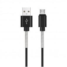 Кабель AVS micro USB (1м USB 2.0) усиленный MR-361S (пакет)