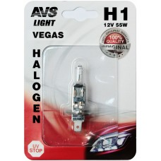 Лампа галогенная AVS Vegas в блистере H1.12V.55W (1 шт.)