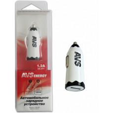 Автомобильное зарядное устройство USB (1 порт) AVS UC-311 (1,2А)