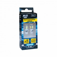 T10 T100 /белый/ (W2.1x9.5D) 30SMD 3014 9-30V W5, коробка 2 шт.
