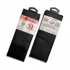 Оплетка на руль (эко-кожа) AVS GL-304M-B (размер M, черный)