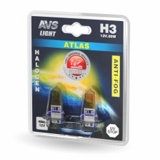 Лампа галогенная AVS ATLAS ANTI-FOG / желтый H3.12V.55W (блистер, 2 шт.)