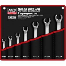 Набор ключей гаечных разрезных в сумке (8-19 мм) (7 предметов) AVS K4N7M