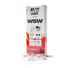 Лампа AVS Vegas 24V. W5W (W2,1x9,5d) BOX (10 шт.)