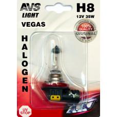 Лампа галогенная AVS Vegas в блистере H8.12V.35W (1 шт.)