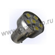 T15 S027  (BA15S) 6SMD 5050 3chip 1 contact, блистер 2 шт