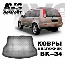 Коврик в багажник 3D Nissan X-Trail (T32) (2014-) AVS BK-34