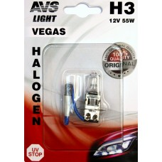 Лампа галогенная AVS Vegas в блистере H3.12V.55W (1 шт.)