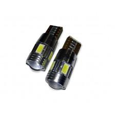 T10 C023 /белый/ (W2.1x9.5D) 5SMD 5730, блистер, 2 шт.