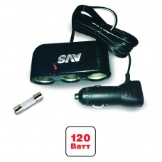 Разветвитель прикуривателя 12/24V (на 3 выхода) AVS CS301