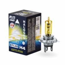 Лампа галогенная AVS ATLAS ANTI-FOG / BOX желтый H4.12V.60/55W (1 шт.)