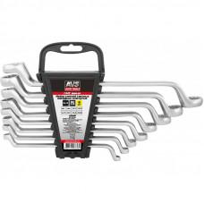 Набор ключей гаечных накидных изогнутых на держателе (6-22 мм) (8 предметов) AVS K2N8P