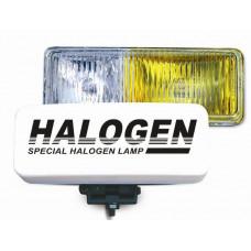Противотуманные фары галогенные (H3) AVS PF-116H (белый-желтый, 12V 55A H3, пластик, рифленое стекло)