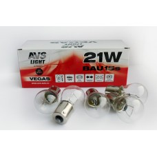 Лампа AVS Vegas 12V. 21W (BAU15S) BOX (10 шт.) смещенный штифт