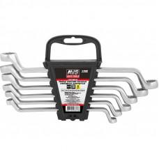 Набор ключей гаечных накидных изогнутых на держателе (8-19 мм) (6 предметов) AVS K2N6P