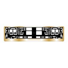 Рамка под номерной знак хром (золото) AVS RN-13