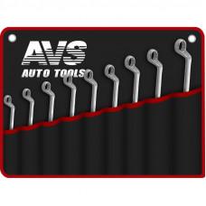 Набор ключей гаечных накидных изогнутых в сумке (6-24 мм) (9 предметов) AVS K2N9M