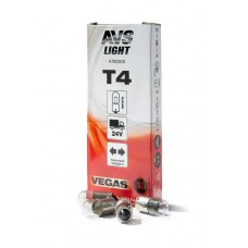 Лампа AVS Vegas 24V. T4 (BA9S) BOX (10 шт.)