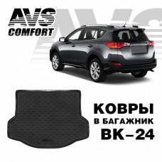 Коврик в багажник 3D Toyota RAV4 (2013-) (докатка, ровный пол) AVS BK-24