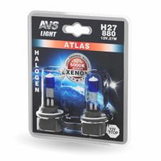 Лампа галогенная AVS ATLAS /5000К/ H27/880 12V.27W (блистер, 2 шт.)